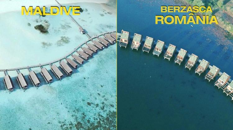 Crezi că-i Maldive? Uită-te mai bine, e chiar la noi! Superbele căsuțe pe apă din raiul Dunării